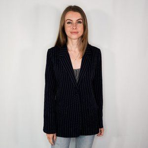 4TH RECKLESS Emily Jacket Navy Pinstripe Blazer